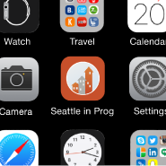 Example showing Seattle in Progress mobile icon